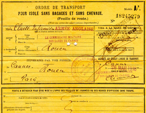 TRANSPORTATION ORDER
