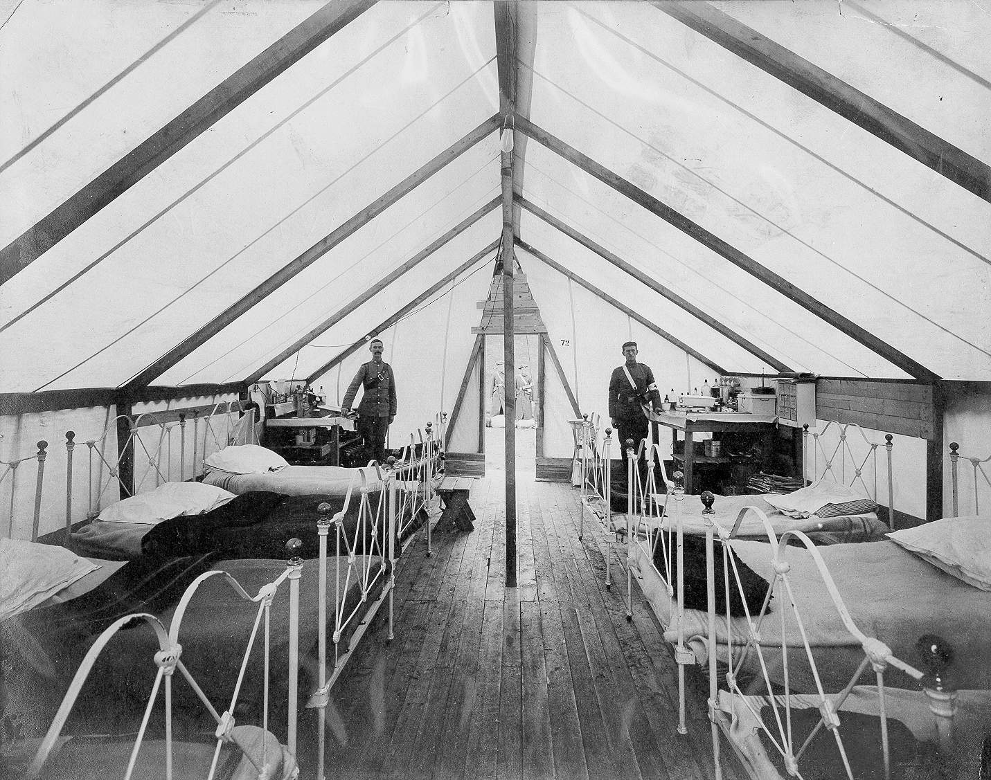 HOSPITAL TENT AT PLEASANTVILLE
